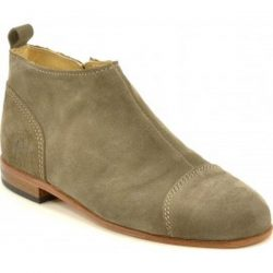 chaussures-cuir-basses-armelle-velours-taupe